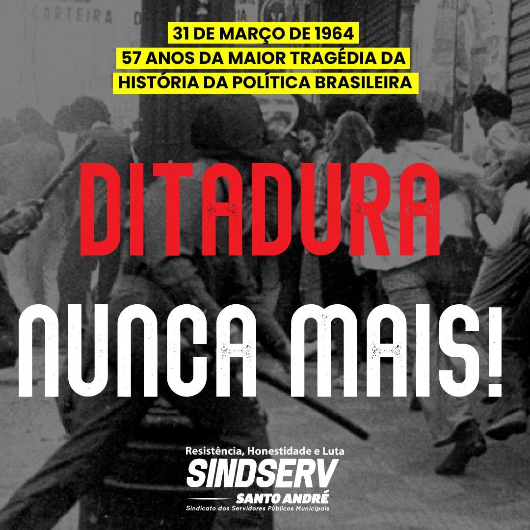 Imagem de Golpe Militar de 1964: Brasil não tem o que comemorar