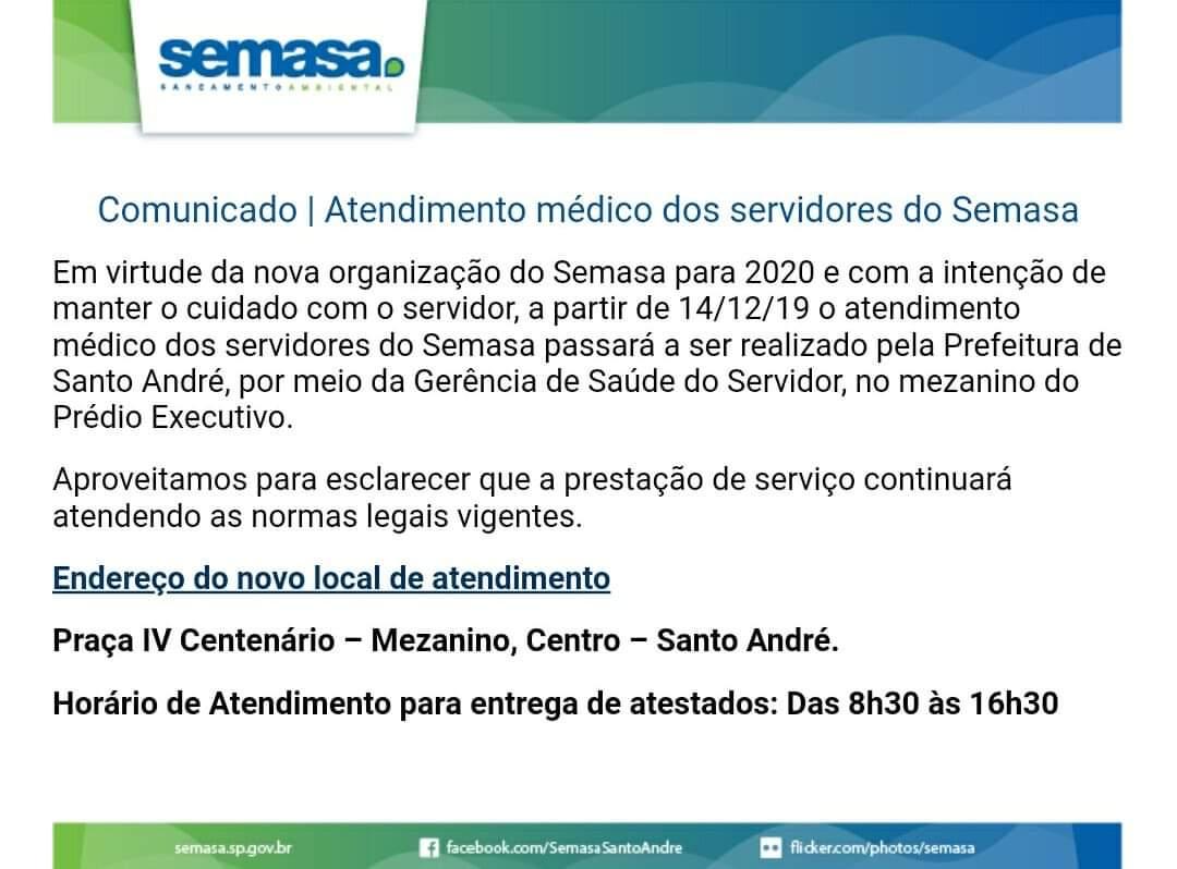 Imagem de Sindserv Santo André repudia fechamento do Serviço Médico do Semasa