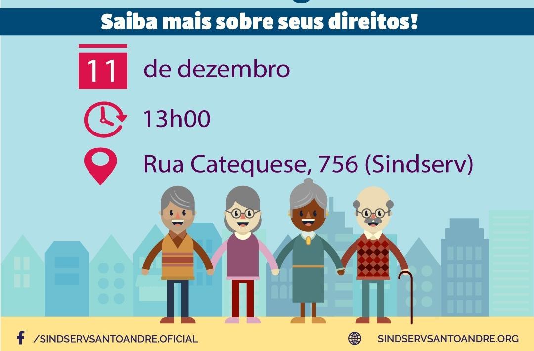 Imagem de Estatuto do Idoso: Sindserv Santo André e OAB promovem palestra nesta terça-feira (11)