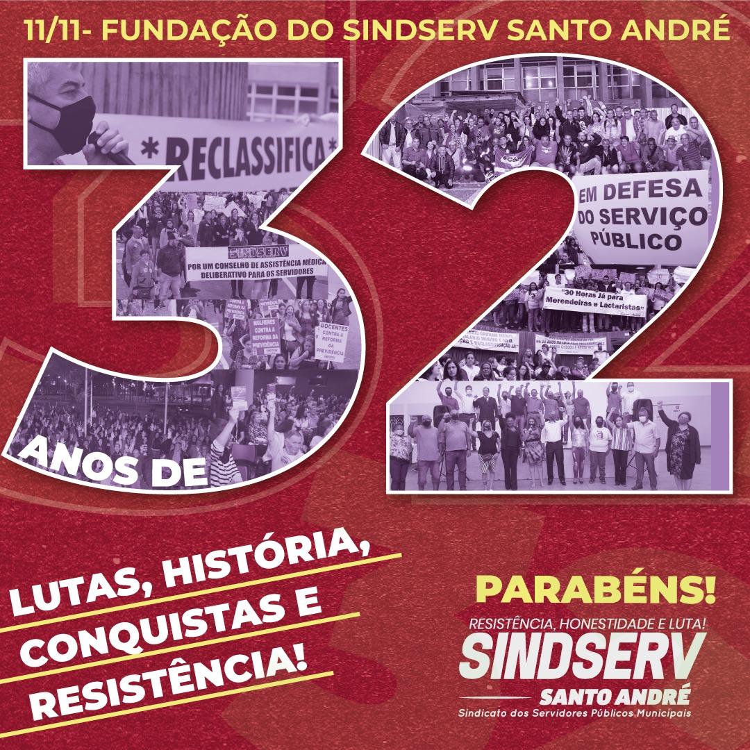 Imagem de Parabéns Sindserv Santo André: 32 anos de história, conquistas e resistência!