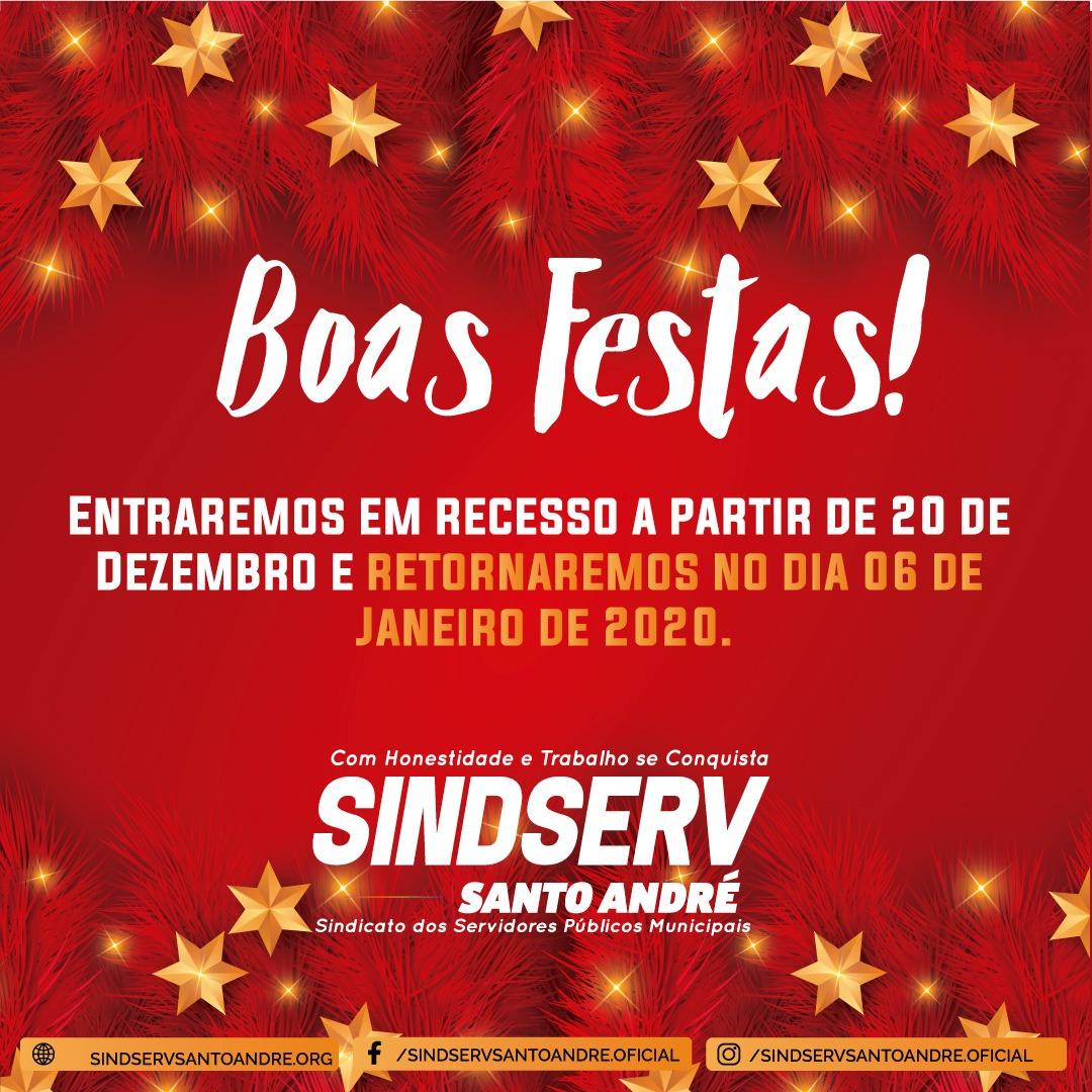 Imagem de Sindserv Santo André deseja boas festas e um ótimo ano novo