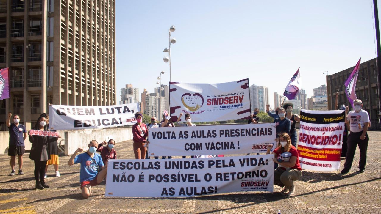 Imagem de Trabalhadores da Educação mantém Greve Sanitária pela Vida e ensino remoto