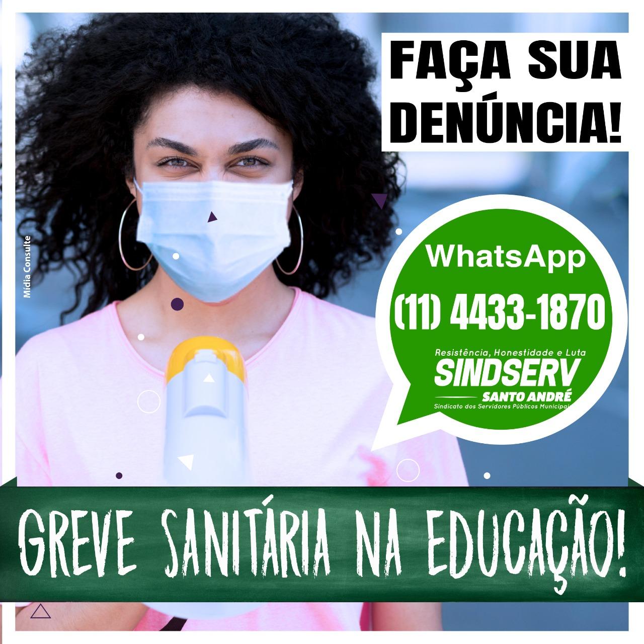 Imagem de Sindicato cria canal de denúncias da Greve Sanitária da Educação