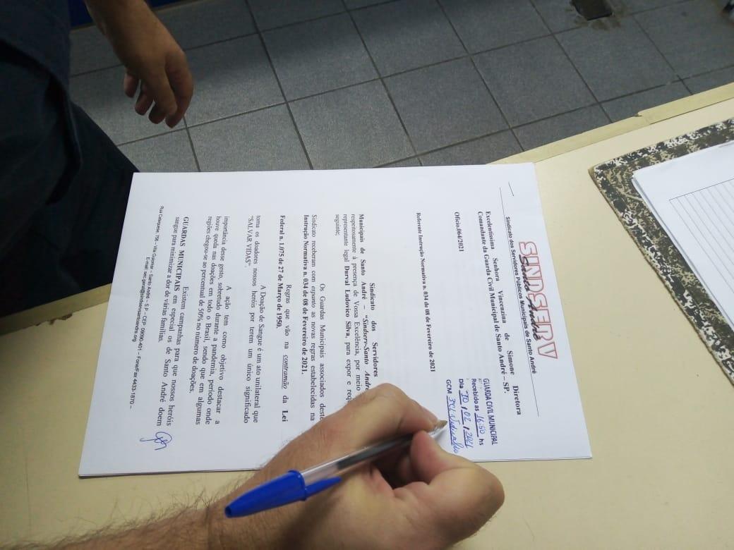 Imagem de Sindserv Santo André pede revogação de norma da GCM que penaliza Guarda que doar sangue