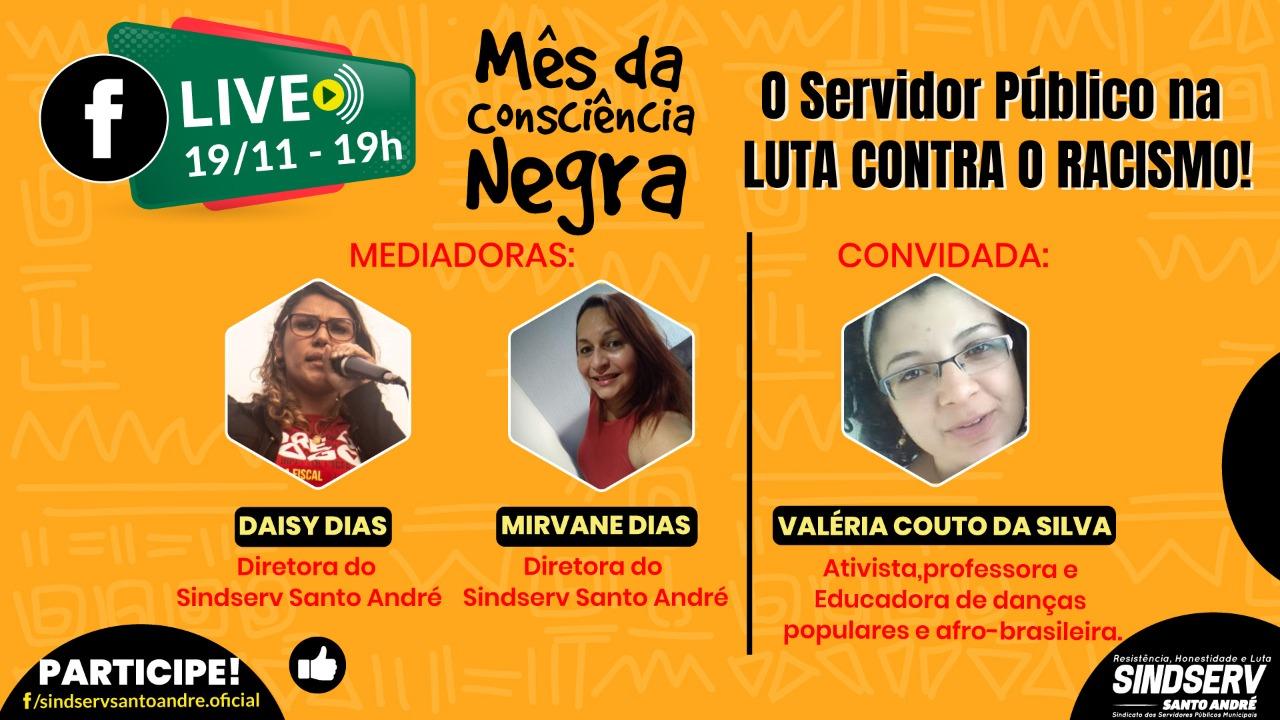 Imagem de Sindserv Santo André debate combate ao Racismo em Live nesta quarta-feira (19)
