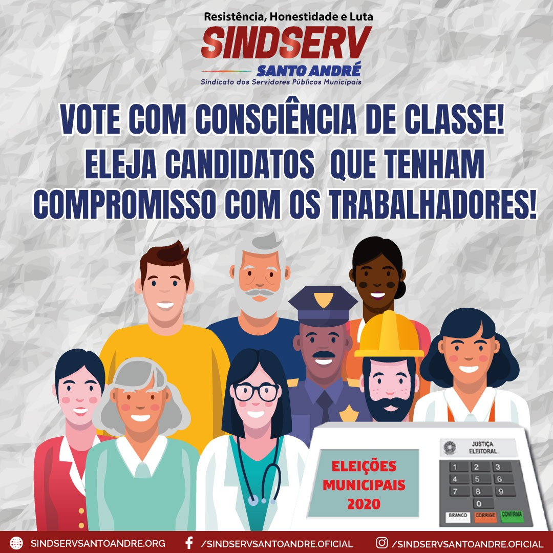 """Imagem de Eleições  2020: """"é preciso eleger candidaturas comprometidas com os direitos e lutas dos trabalhadores"""", destaca Sindserv"""