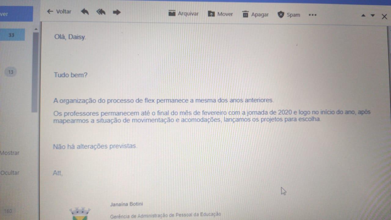 """Imagem de """"Organização dos professores flex permanece sem alteração em 2021"""", afirma SE ao Sindicato"""