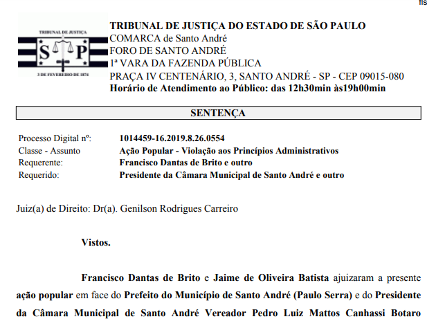 Imagem de Dirigentes do Sindserv Santo André vão à Justiça para anular votação que entregou o SEMASA