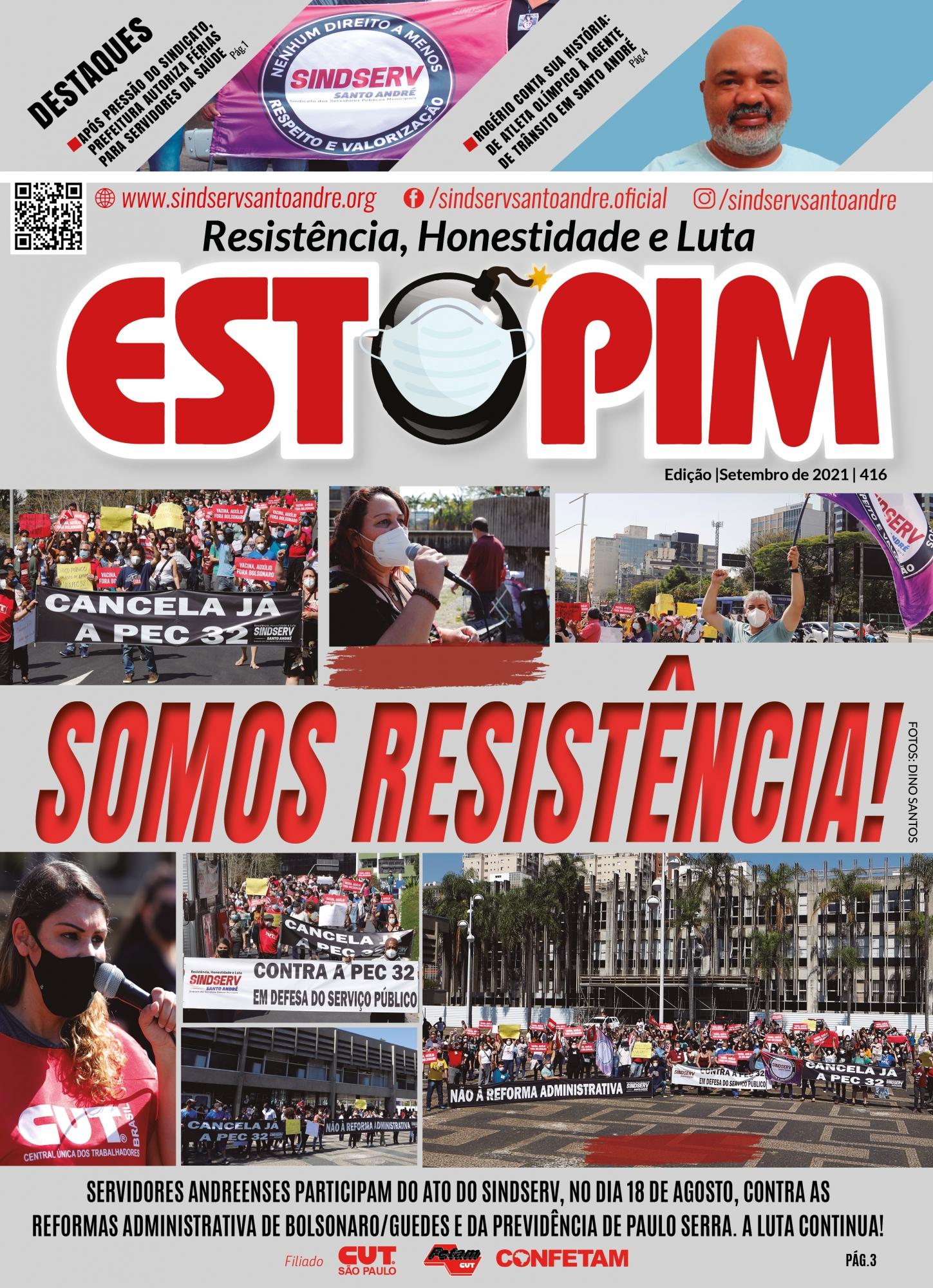 Imagem de Confira a Capa da edição do Estopim-Setembro