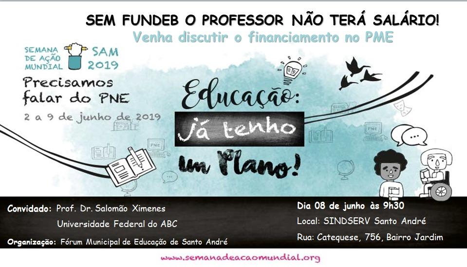 Imagem de Sindserv Santo André é palco de debate do Fórum Municipal de Educação neste sábado (8)