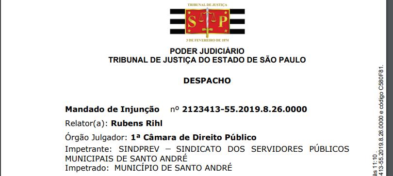 Imagem de Sindserv Santo André impetra mandado para exigir que prefeito mande projeto de Lei sobre Estatuto da Guarda de acordo com Lei  Federal