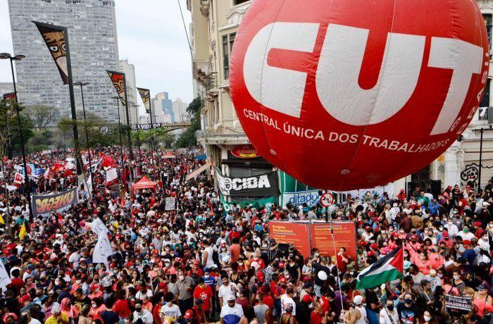 Imagem de Sindserv Santo André participa do ato em  defesa da democracia no Vale do Anhangabaú