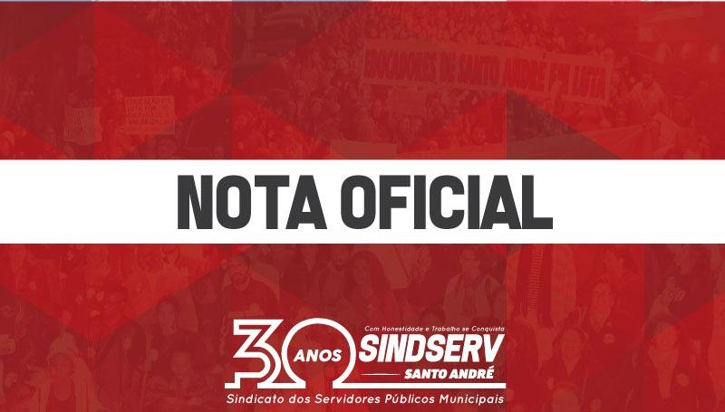 Imagem de Nota oficial do Sindserv Santo André sobre Projeto de Lei das Reclassificações da Prefeitura